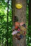 Κεραμική δασική διακόσμηση Στοκ εικόνα με δικαίωμα ελεύθερης χρήσης