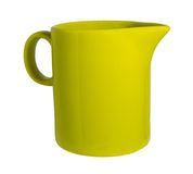 Κεραμική κούπα με σωλήνες για το γάλα πράσινο Στοκ φωτογραφία με δικαίωμα ελεύθερης χρήσης