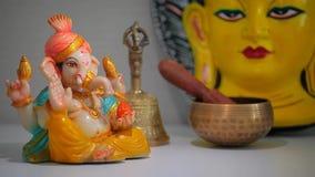 Κεραμική μάσκα budha αγαλμάτων ganesha φιλμ μικρού μήκους