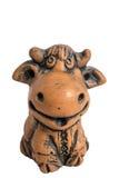 Κεραμική ουκρανική αγελάδα αργίλου Στοκ Εικόνες