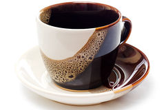 κεραμικό κενό τσάι φλυτζα& στοκ φωτογραφία με δικαίωμα ελεύθερης χρήσης