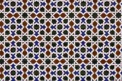 Κεραμικό μωσαϊκό με το γεωμετρικό σχέδιο στοκ εικόνα