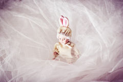 Κεραμικό νεογέννητο μωρό κουκλών στοκ φωτογραφία με δικαίωμα ελεύθερης χρήσης