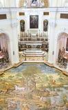 Κεραμικό πάτωμα της εκκλησίας SAN Michele (Άγιος Michael), Anacapri στοκ εικόνες