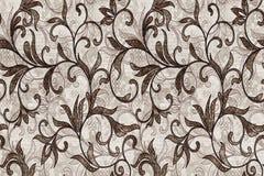 κεραμικό σχέδιο κεραμιδιών τοίχων, άνευ ραφής σχέδιο με τα καφετιά λουλούδια σε ένα ελαφρύ υπόβαθρο, κομψό άνευ ραφής σχέδιο με τ διανυσματική απεικόνιση