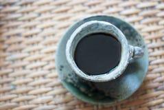 Κεραμικό φλυτζάνι του μαύρου καφέ Στοκ Εικόνες