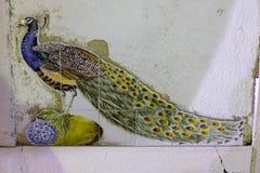 Κεραμικό peacock Στοκ φωτογραφία με δικαίωμα ελεύθερης χρήσης