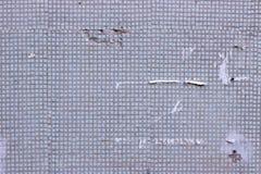 Κεραμωμένος τοίχος με τις μικρές επιτροπές φθαρμένες Στοκ Εικόνα