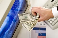 κερδίστε τα χρήματα Στοκ Εικόνα