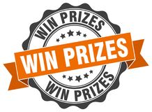 κερδίστε τη σφραγίδα βραβείων γραμματόσημο απεικόνιση αποθεμάτων
