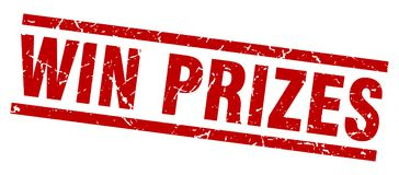 Κερδίστε το γραμματόσημο βραβείων απεικόνιση αποθεμάτων