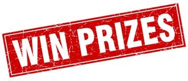 Κερδίστε το γραμματόσημο βραβείων διανυσματική απεικόνιση