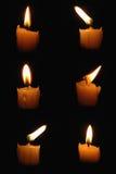 κεριά έξι Στοκ Φωτογραφία
