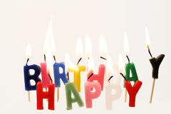 κεριά γενεθλίων στοκ φωτογραφία με δικαίωμα ελεύθερης χρήσης