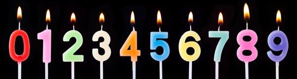 κεριά γενεθλίων Στοκ Εικόνες