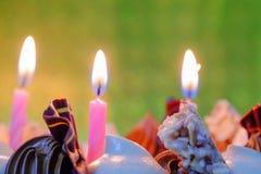 Κεριά γενεθλίων Στοκ Φωτογραφία