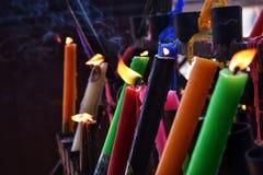 Κεριά για τις ελπίδες και τα όνειρα στοκ εικόνα