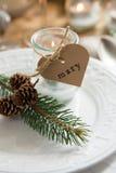 Κεριά για τους φιλοξενουμένους Χριστουγέννων Στοκ Φωτογραφίες