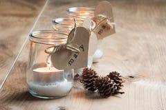 Κεριά για τους φιλοξενουμένους Στοκ εικόνες με δικαίωμα ελεύθερης χρήσης