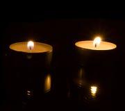 κεριά δύο Στοκ Φωτογραφία