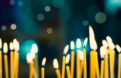 Κεριά εκκλησιών Στοκ εικόνα με δικαίωμα ελεύθερης χρήσης