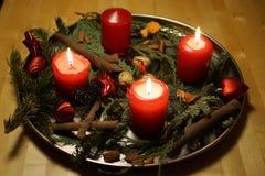 Κεριά εμφάνισης Χριστουγέννων Στοκ Εικόνες