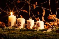Κεριά εμφάνισης στοκ φωτογραφίες με δικαίωμα ελεύθερης χρήσης