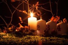 Κεριά εμφάνισης στοκ φωτογραφία