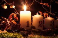 Κεριά εμφάνισης στοκ εικόνες με δικαίωμα ελεύθερης χρήσης