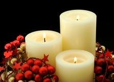 Κεριά εμφάνισης Στοκ εικόνα με δικαίωμα ελεύθερης χρήσης