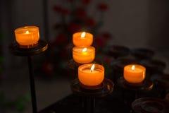 Κεριά θυμάτων Στοκ Εικόνες