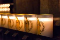 Κεριά καθεδρικών ναών της Notre Dame στοκ εικόνες