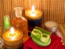 Κεριά και αρωματικά σαπούνια Στοκ Εικόνα