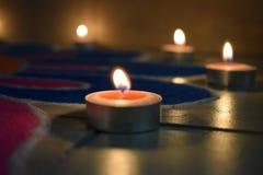 Κεριά και φως Στοκ εικόνες με δικαίωμα ελεύθερης χρήσης