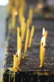 Κεριά και φλόγα Στοκ Εικόνες