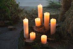 Κεριά ντεκόρ Στοκ Εικόνες