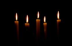 κεριά πέντε Στοκ εικόνα με δικαίωμα ελεύθερης χρήσης