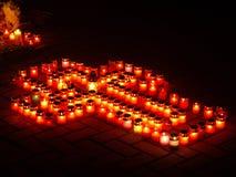 κεριά περίλυπα Στοκ εικόνα με δικαίωμα ελεύθερης χρήσης