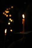 κεριά που απομονώνονται Στοκ Εικόνα