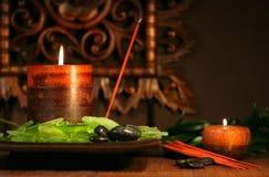 κεριά που χρωματίζονται ηλέκτρινα Στοκ φωτογραφίες με δικαίωμα ελεύθερης χρήσης