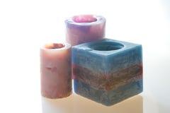 κεριά που χρωματίζονται Στοκ εικόνα με δικαίωμα ελεύθερης χρήσης