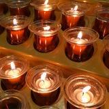 Κεριά προσευχής στοκ εικόνες