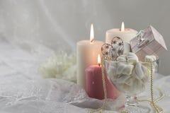 κεριά ρομαντικά στοκ φωτογραφία