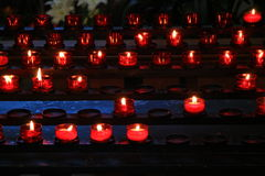 Κεριά σε μια εκκλησία Στοκ Εικόνα