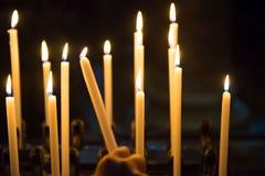 Κεριά στην εκκλησία Στοκ εικόνες με δικαίωμα ελεύθερης χρήσης