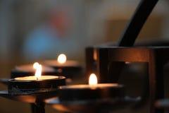 Κεριά στην εκκλησία Στοκ Φωτογραφία