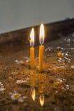 Κεριά στην εκκλησία Στοκ Φωτογραφίες