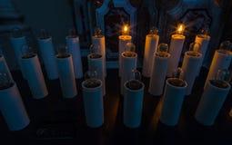 Κεριά στη βασιλική της Σάντα Μαρία, Castel Di Sangro, Abruzz Στοκ Εικόνες