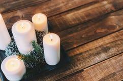 Κεριά στο δωμάτιο Στοκ φωτογραφία με δικαίωμα ελεύθερης χρήσης