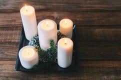 Κεριά στο δωμάτιο Στοκ εικόνα με δικαίωμα ελεύθερης χρήσης
